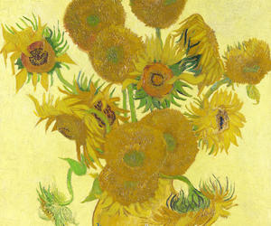 art, painting, and sunflower image