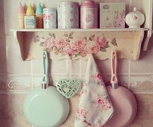 vintage, kitchen, and pastel image