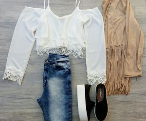 jeans, outfits, and panchas image