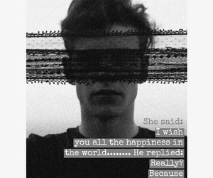 black and white, quote, and boys image
