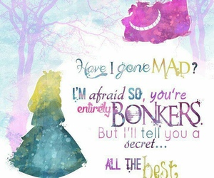 alice in wonderland, quotes, and disney image
