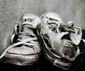 old, shoes, and all star image