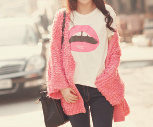fashion, pink, and lips image