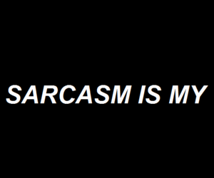 header, quote, and sarcasm image