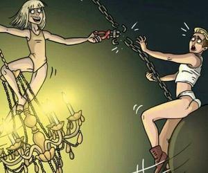 chandelier, maddie ziegler, and ️sia image