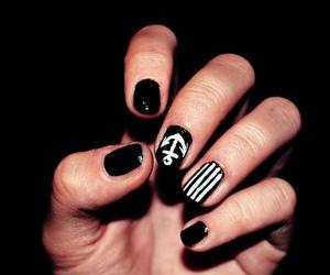 nails, black, and anchor nails image