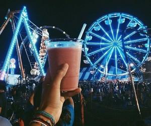 coachella, festival, and light image