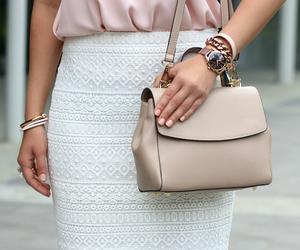 bag, beige, and blogger image