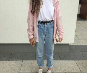pink, outfit, and style image