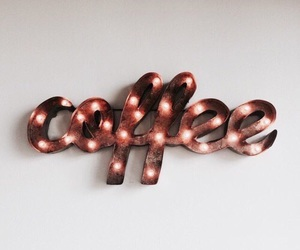 coffee, light, and sign image