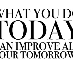 quote, today, and tomorrow image