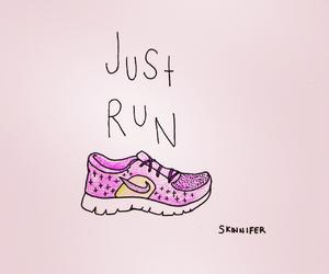 run, nike, and workout image