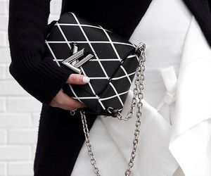 fashion, black, and Louis Vuitton image