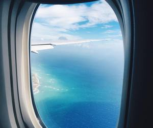 travel, plane, and ocean image
