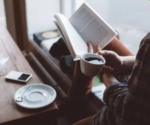 books coffee image