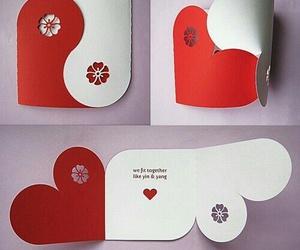diy, card, and heart image
