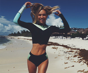 beach, summer, and fitness image