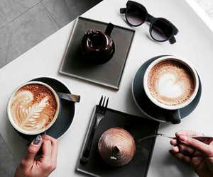 food, coffee, and black image