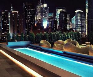 pool, luxury, and city image