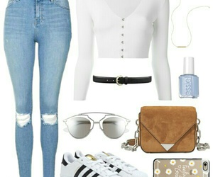 adidas, Polyvore, and casual image