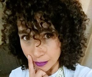 curly, girl, and makeup image