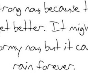 quote, rain, and strong image