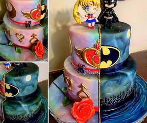 sailor moon, batman, and cake image