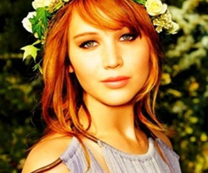 Jennifer Lawrence and flowers image