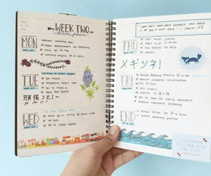 journal, notes, and study image