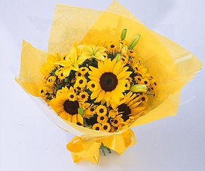 sun, sunflowers, and summer flowers image
