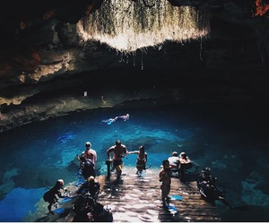 awesome, cave, and diving image