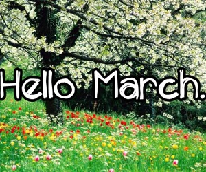 march and flowers image