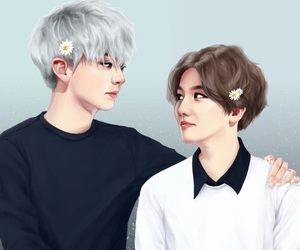 exo, chanbaek, and chanyeol image