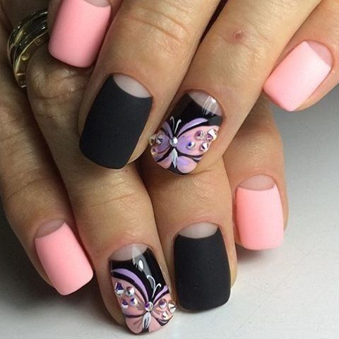 Accurate nails, Butterfly nail art, Butterfly nails, Evening nails ...