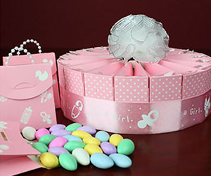 baby girl, baby shower, and party favors image