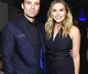 elizabeth olsen, Marvel, and sebastian stan image