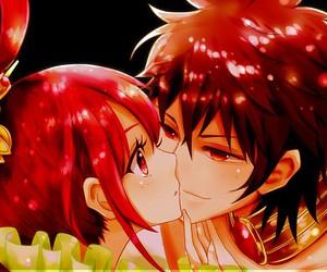 anime couple, kougyoku, and magi image