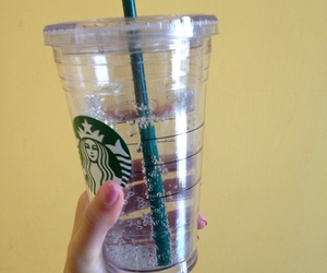 drink, starbucks, and wall image