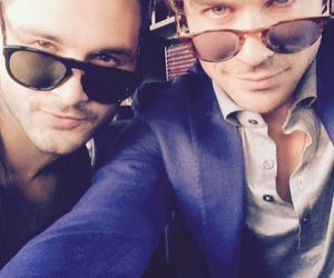 ian somerhalder, tvd, and michael malarkey image