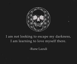 quotes, Darkness, and skull image