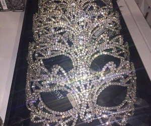 mask, luxury, and diamond image