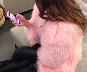 coat, pink, and fashion image