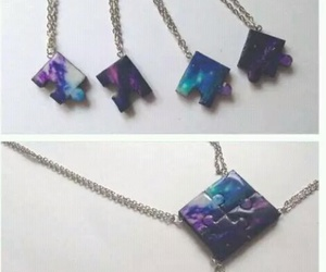 friends, necklace, and puzzle image