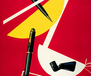 fountain pen, swiss graphic design, and poster image