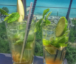 Cocktails, sea, and chalkidiki image