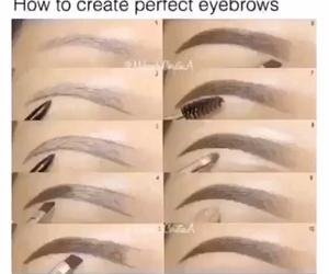 eyebrows, makeup, and girl image