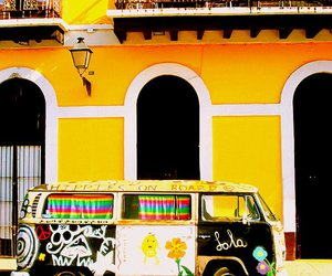 colorful, vw, and vw van image