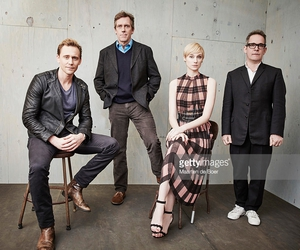 the night manager, hugh laurie, and tom hiddleston image