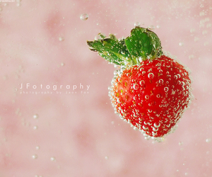 bubbles, strawberry, and fruit image