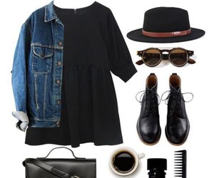 outfit, black, and look image